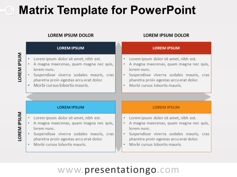 Free Matrix Template for PowerPoint