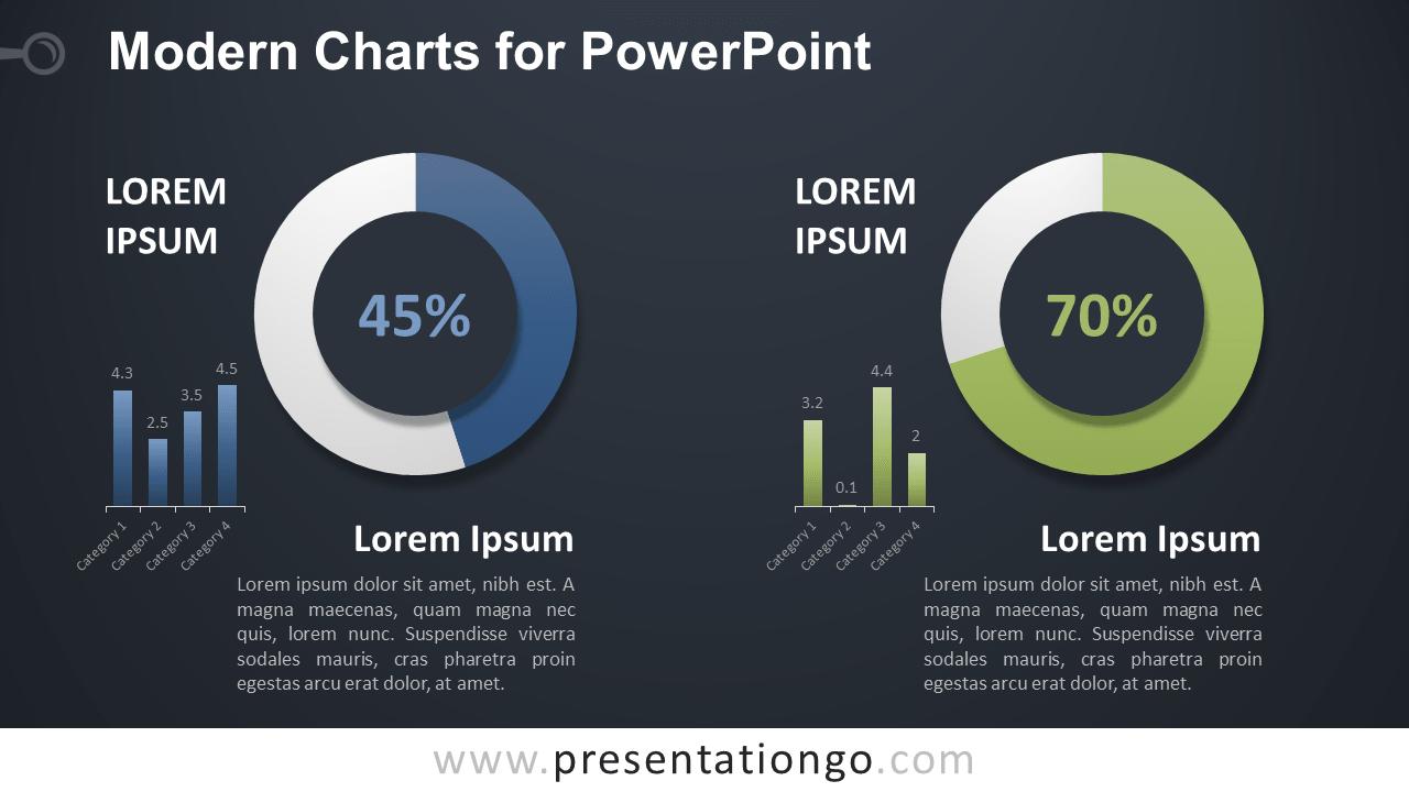 Modern Data-Driven Charts for PowerPoint - Dark Background
