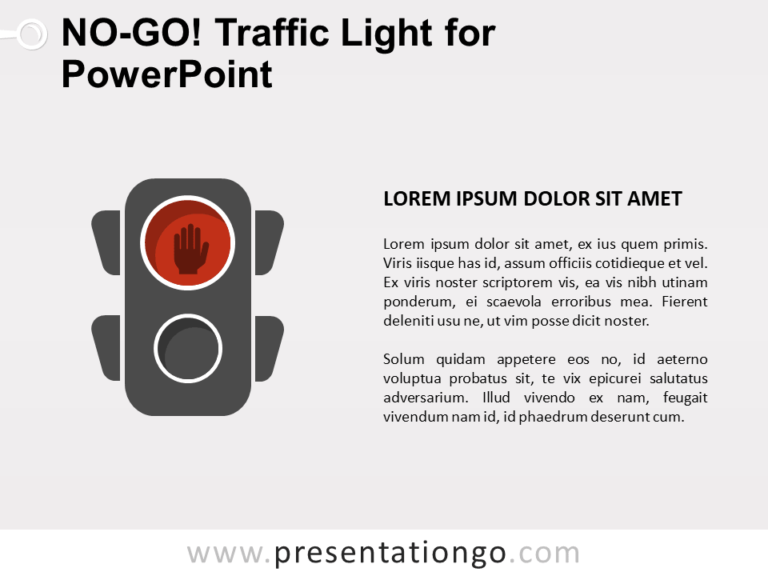 Free No-Go Traffic Light for PowerPoint