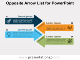 Free Opposite Arrow List for PowerPoint