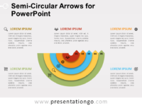 Free Semi-Circular Arrows for PowerPoint