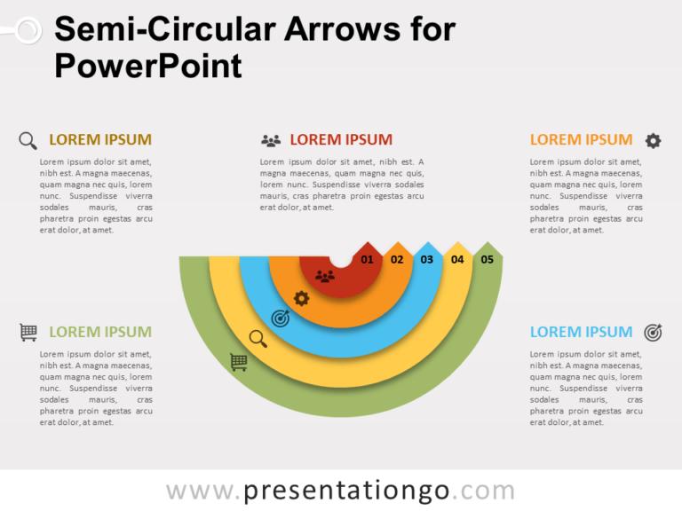 Free Semi-Circular Arrows for PowerPoint