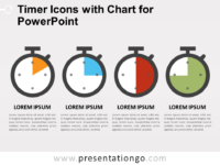 Free Timer Icons and Chart for PowerPoint