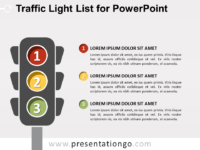 Free Traffic Light List for PowerPoint