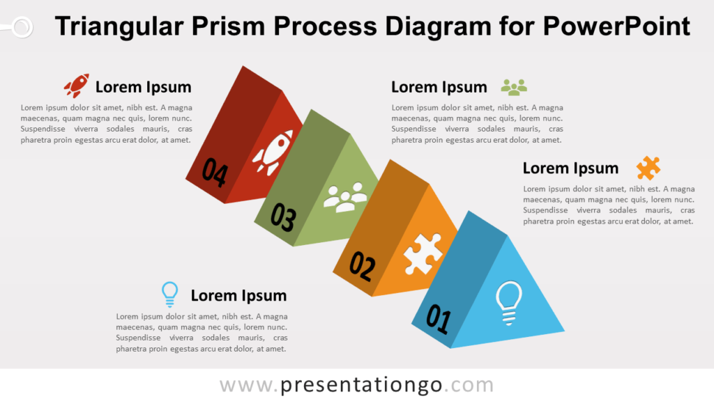 Triangular Prism Process for PowerPoint