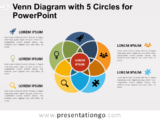 Free Venn Diagram with 5 Circles for PowerPoint