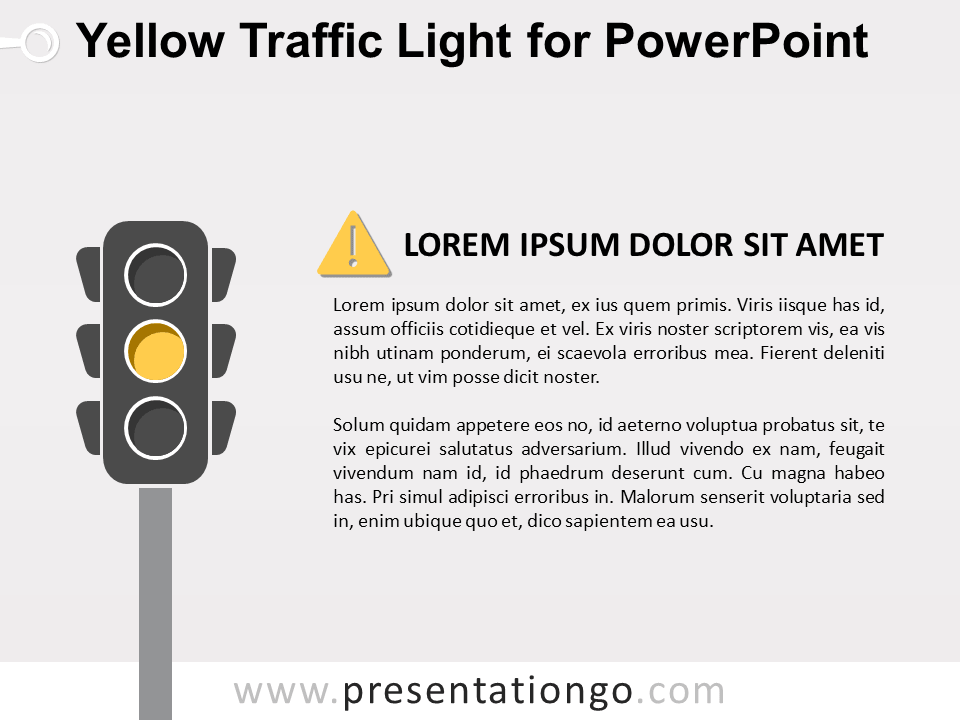 Free Yellow Signal Traffic Light for PowerPoint