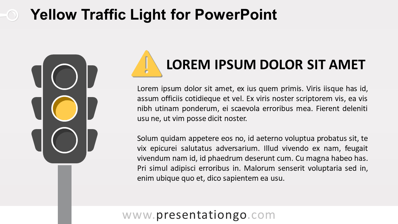 Free Yellow Traffic Light for PowerPoint