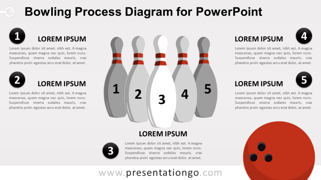 Free Bowling Diagram for PowerPoint