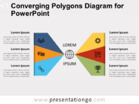 Free Converging Polygons Diagram for PowerPoint