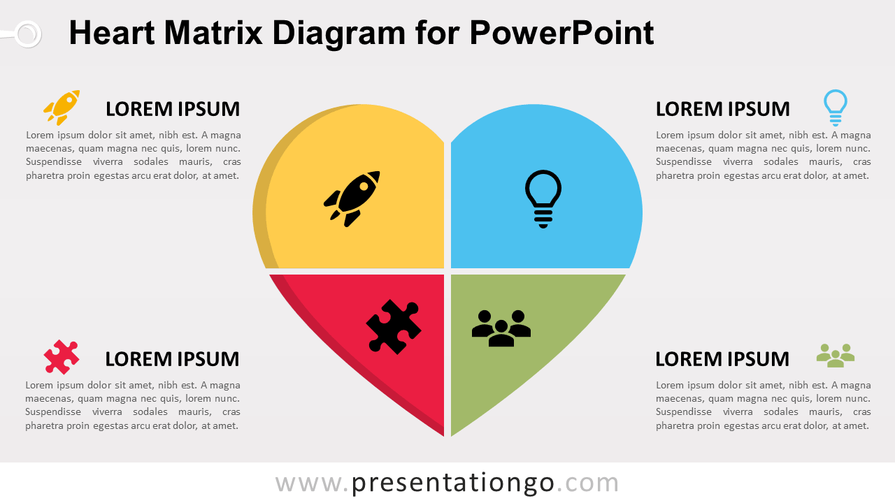 Free Heart Matrix for PowerPoint