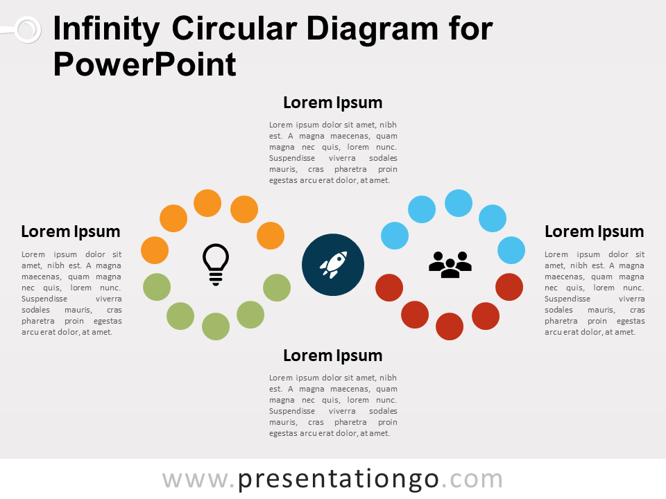 Free Infinity Circular Diagram for PowerPoint