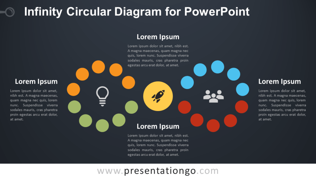 Free Infinity Diagram for PowerPoint - Dark Background