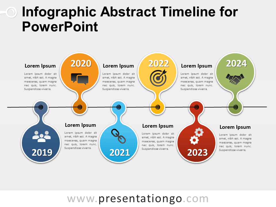 Free Infographic Abstract Timeline for PowerPoint