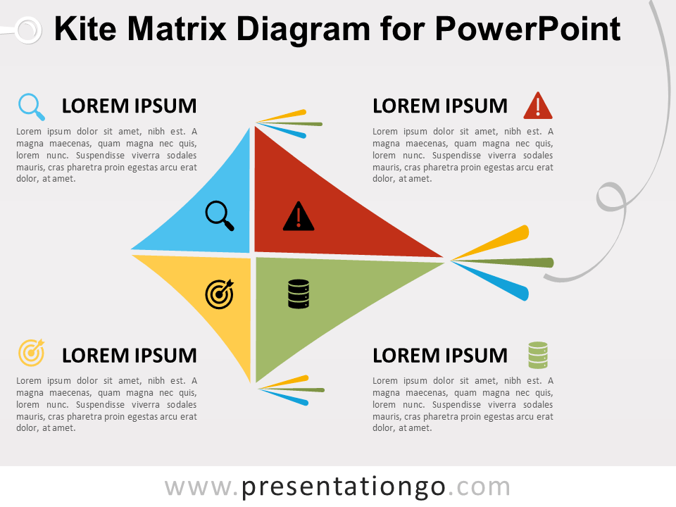 Free Kite Matrix Diagram for PowerPoint