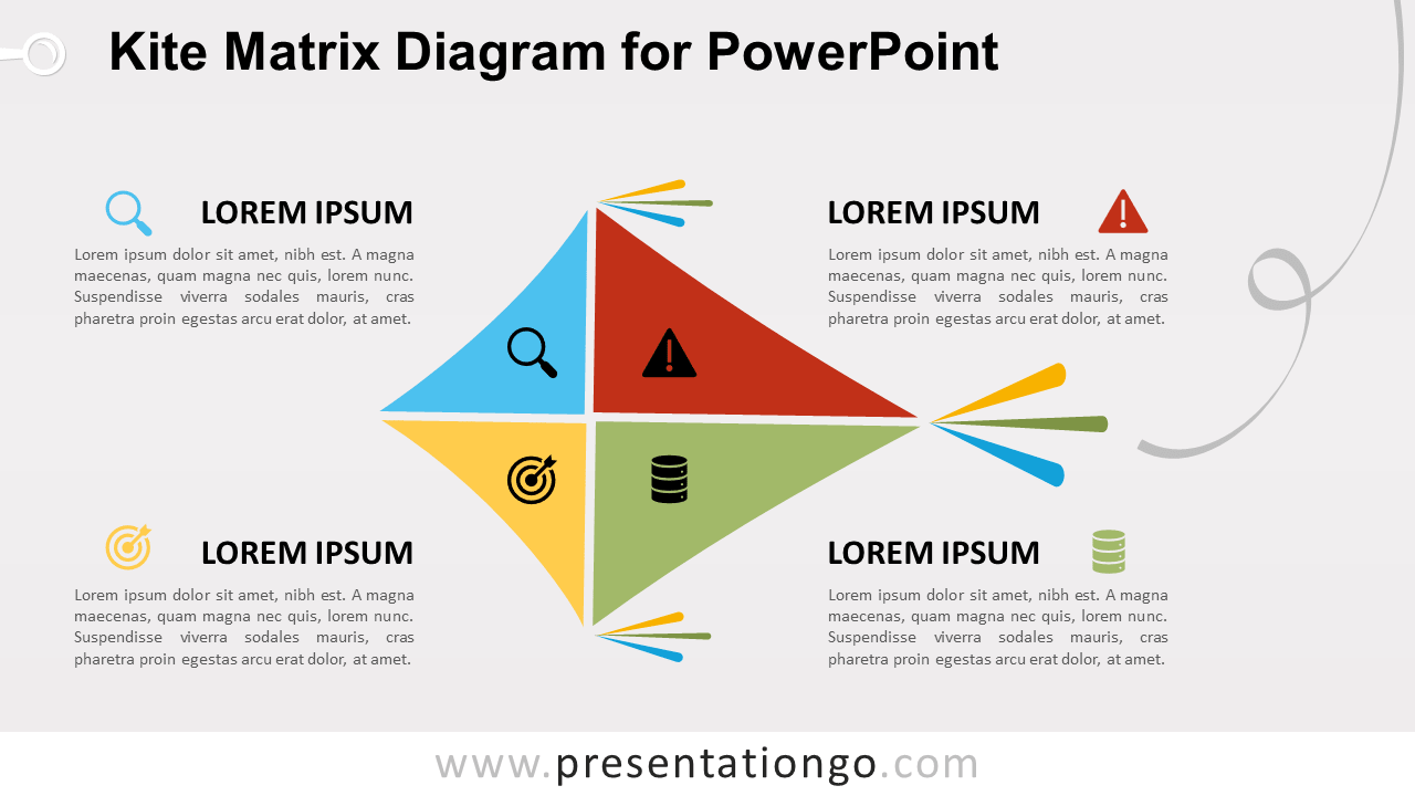 Free Kite Matrix for PowerPoint