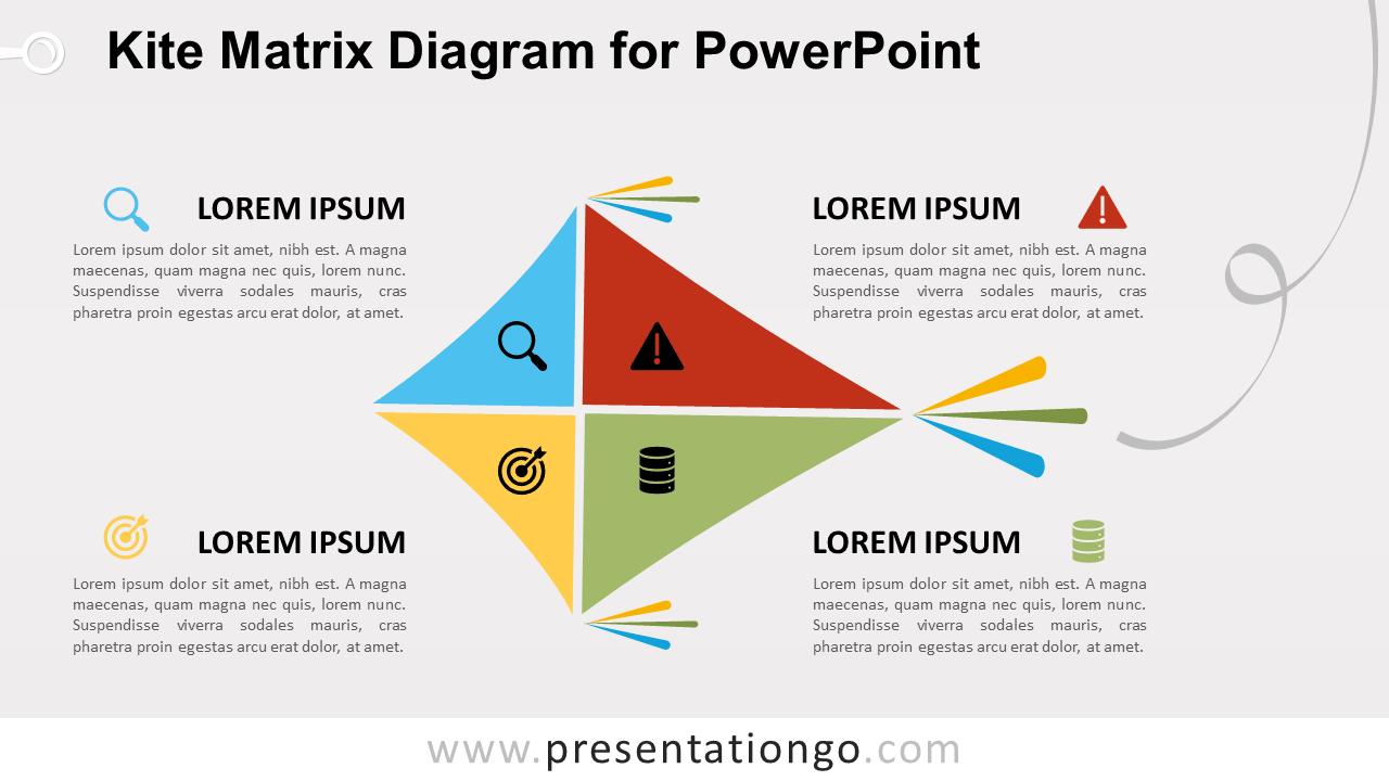 Free Kite Matrix for PowerPoint