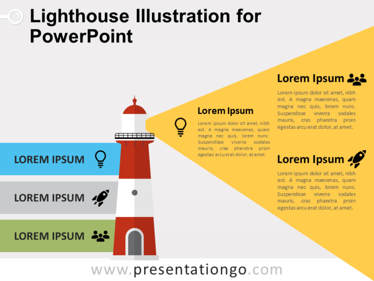 Free Lighthouse Illustration for PowerPoint