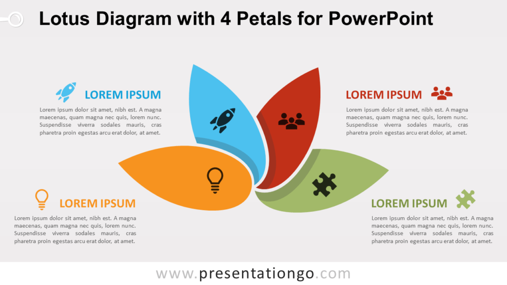 Free Lotus with 4 Petals for PowerPoint