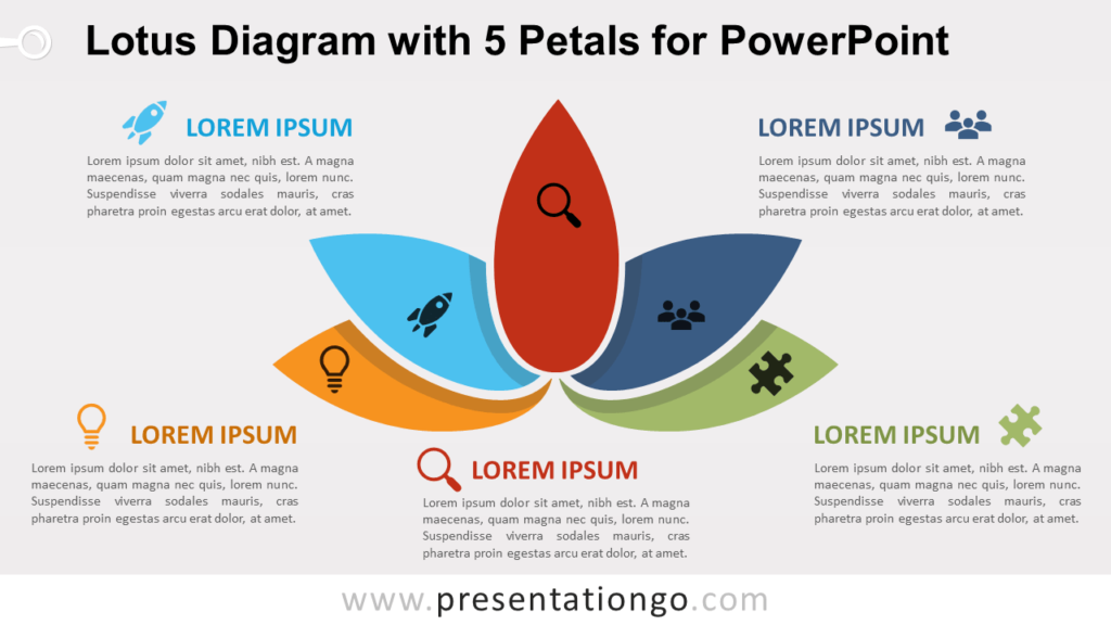 Free Lotus with 5 Petals for PowerPoint