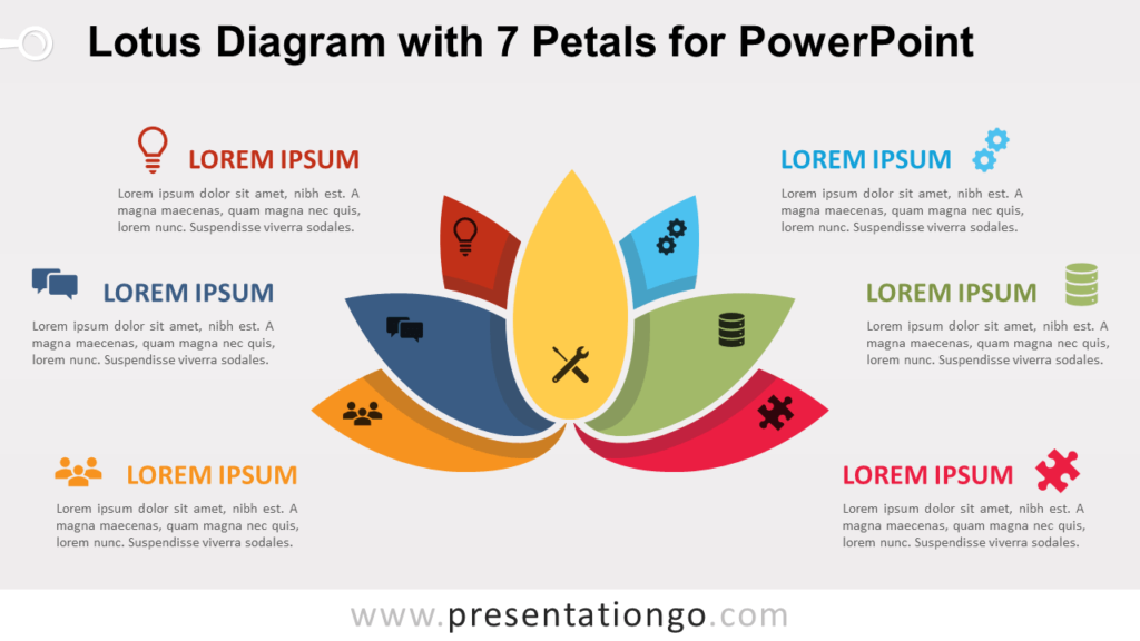 Free Lotus with 7 Petals for PowerPoint
