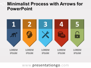 Free Minimalist Process with Arrows for PowerPoint