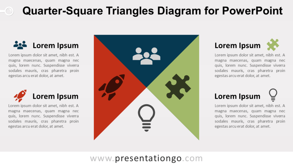 Free Quarter-Square Triangles for PowerPoint