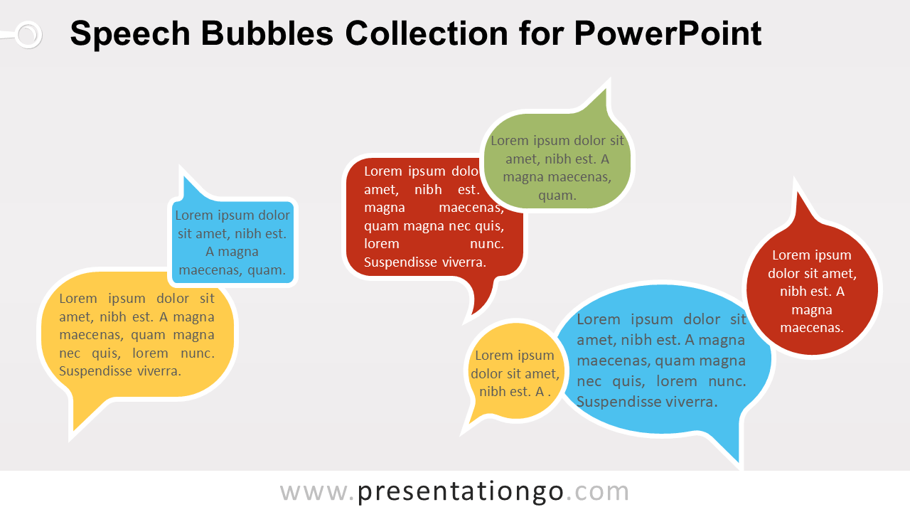 Free Speech Bubbles for PowerPoint