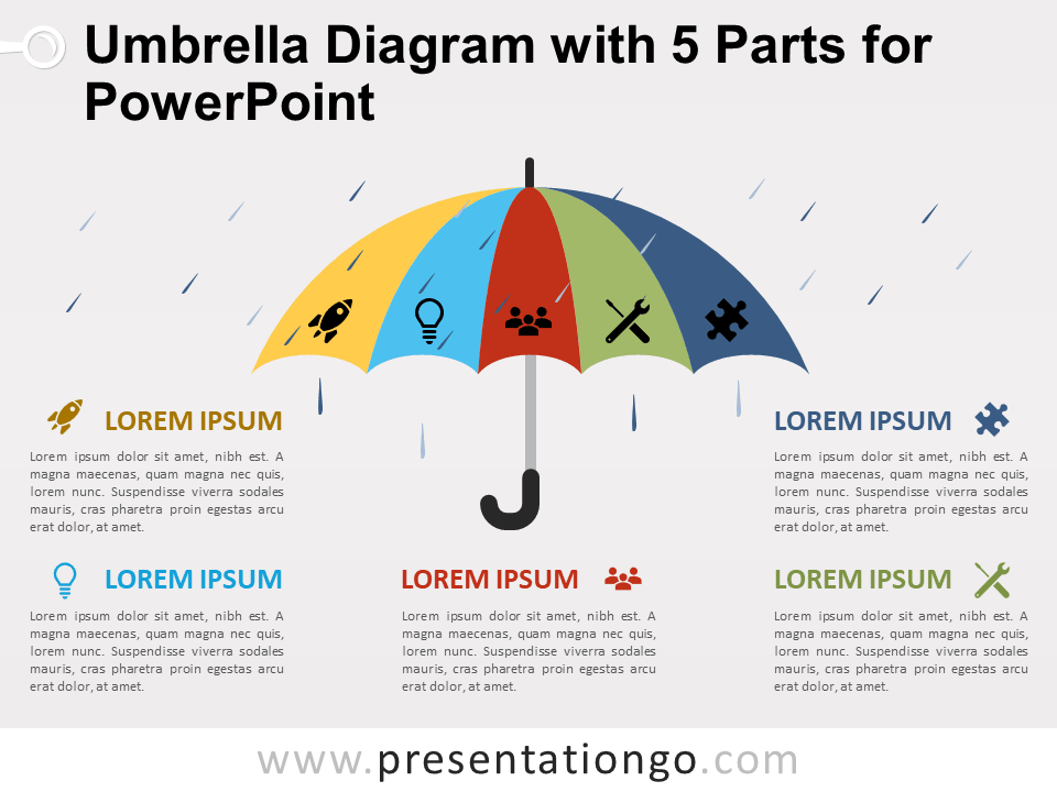 bc7708007f82c View Larger Image Free Umbrella Diagram with 5 Parts for PowerPoint
