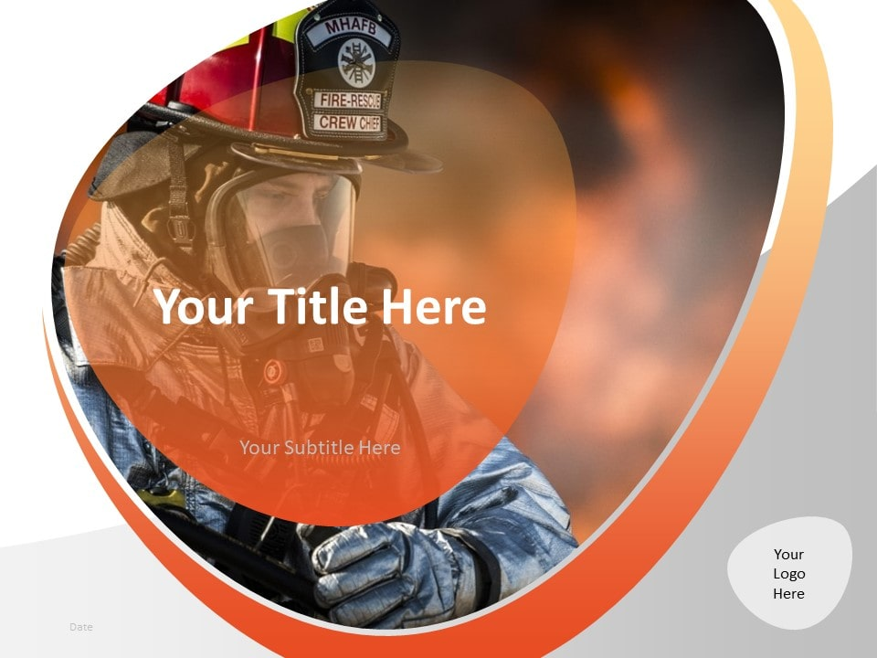 Free Firefighter PowerPoint Template - Cover Slide