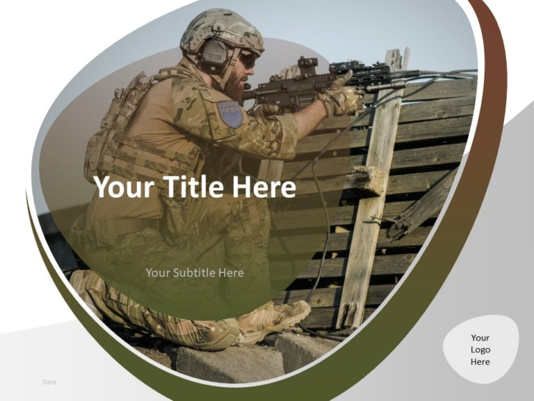Free Military PowerPoint Template - Cover Slide