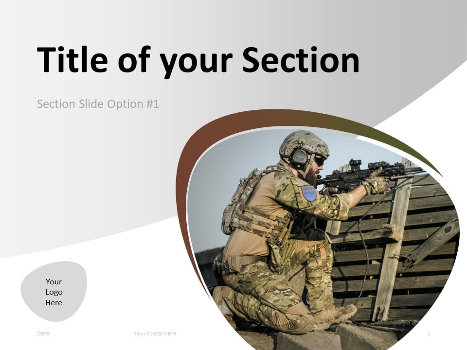 Free Military PowerPoint Template - Section Slide 1