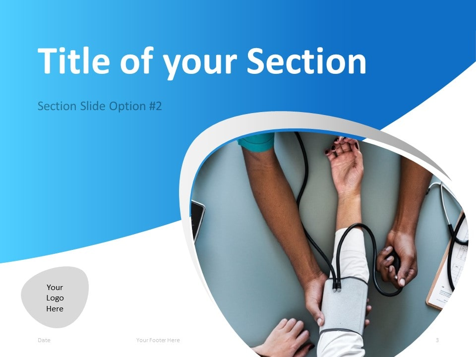 Free Doctor PowerPoint Template - Section Slide 2