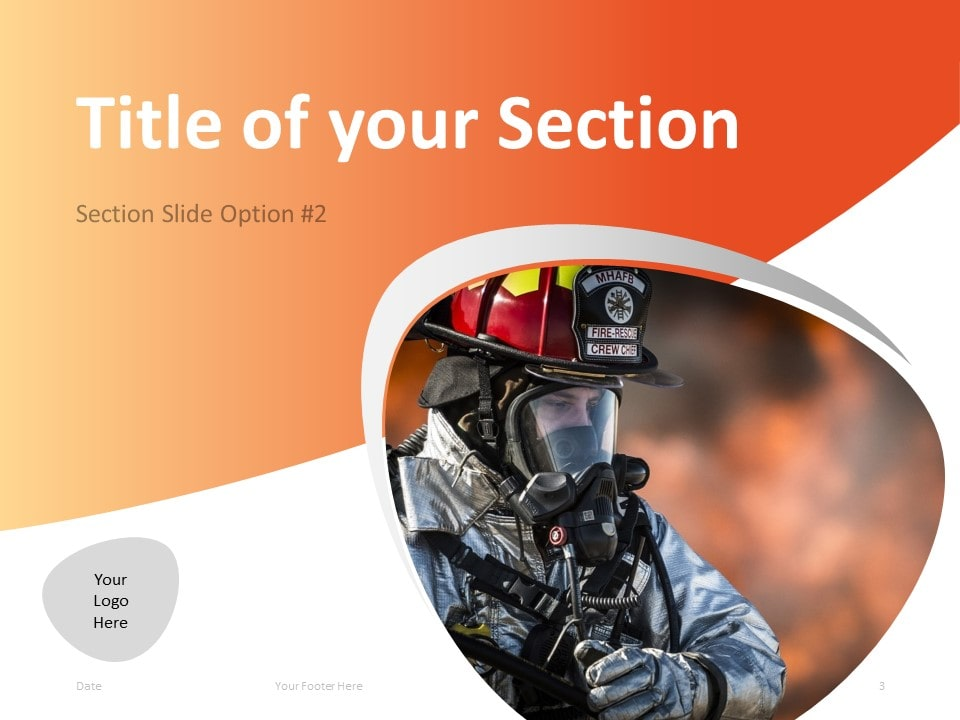 Free Firefighter PowerPoint Template - Section Slide 2