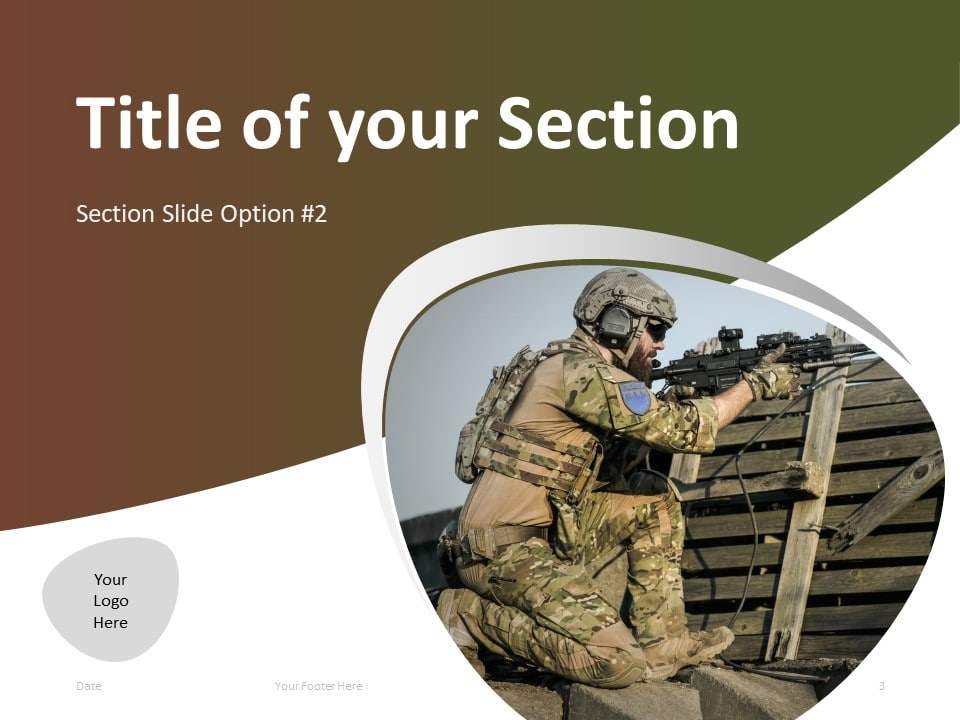 Free Military PowerPoint Template - Section Slide 2