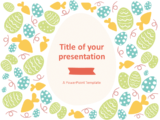 Free Flat Easter PowerPoint Template - Style 2