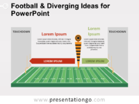 Free Football and Diverging Ideas for PowerPoint