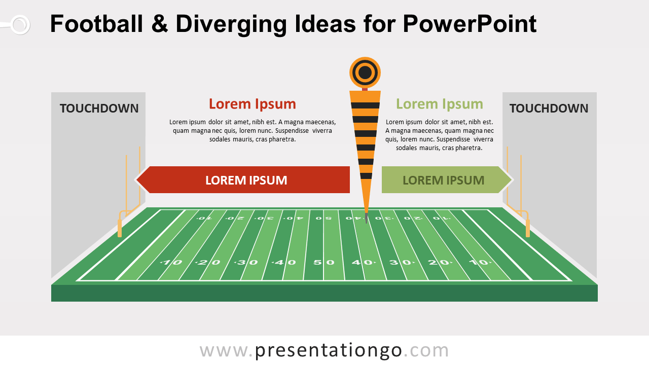 Free Football and Diverging Ideas PowerPoint Template