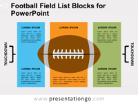 Free Football Field List Blocks for PowerPoint