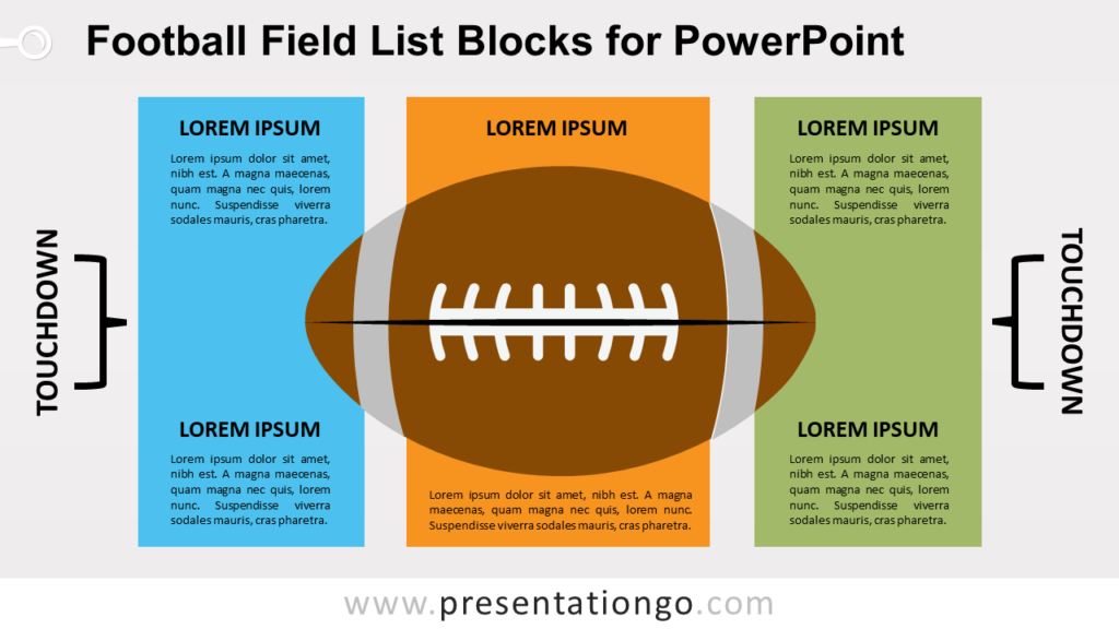 Free Football Field List for PowerPoint