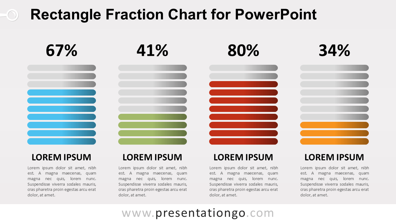 Free Fraction PowerPoint Chart