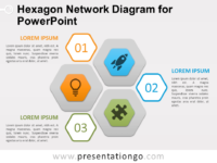 Free Hexagon Network Diagram for PowerPoint