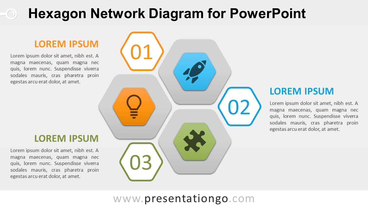 Free Hexagon Network for PowerPoint