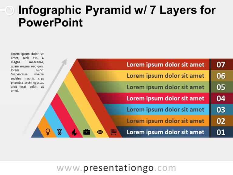Free Infographic Pyramid with 7 Layers for PowerPoint