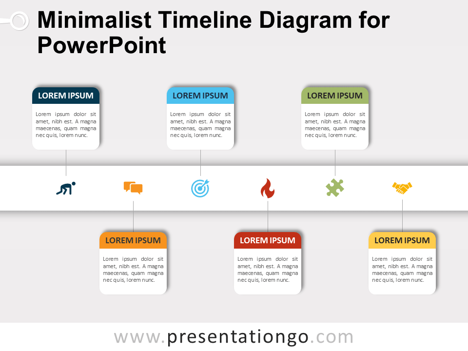 Free Minimalist Timeline Diagram for PowerPoint