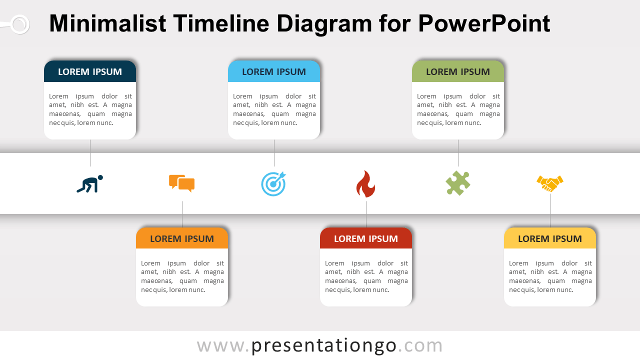 Free Minimalist Timeline for PowerPoint
