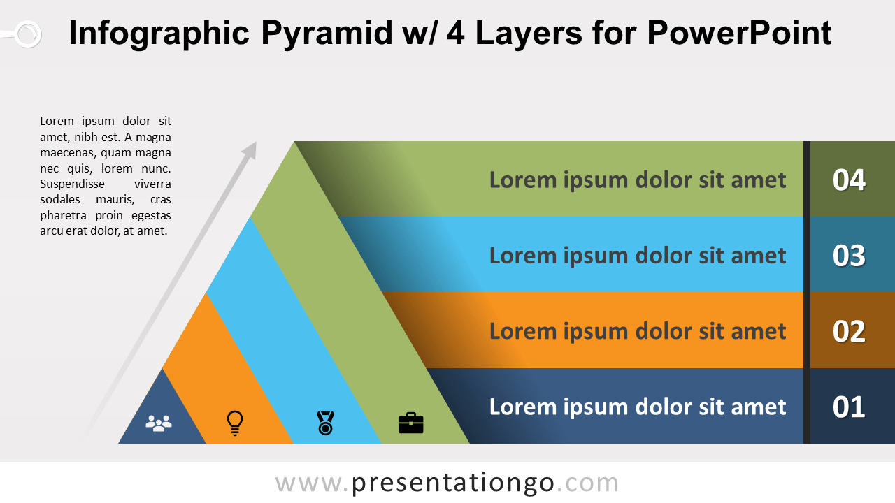 Free Pyramid with 4 Layers for PowerPoint