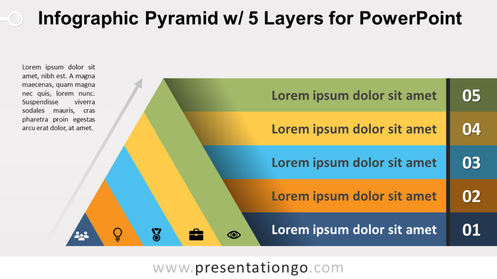 Free Pyramid with 5 Layers for PowerPoint