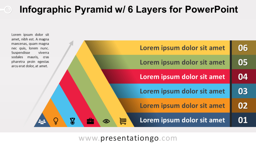 Free Pyramid with 6 Layers for PowerPoint