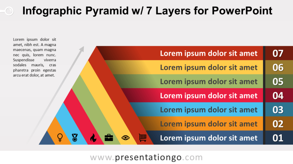 Free Pyramid with 7 Layers for PowerPoint